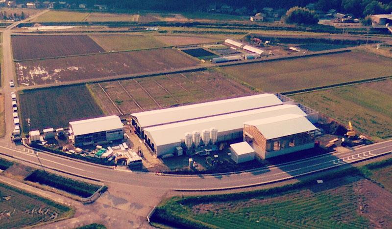 棚橋ファームの上空写真