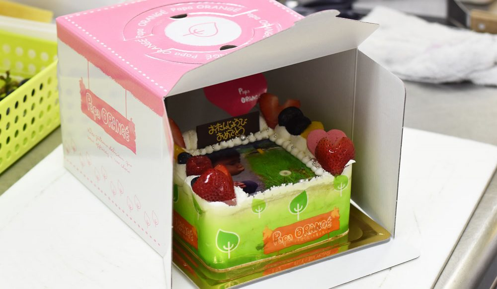 フォトケーキ発送